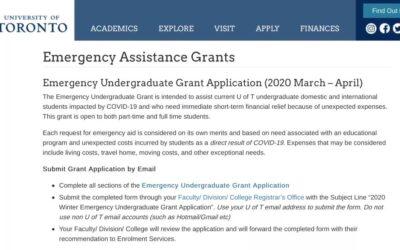 重磅!加拿大各大学宣布留学生也可申请疫情补贴!